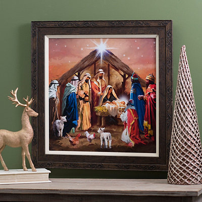 Elegant Nativity Framed Art Print