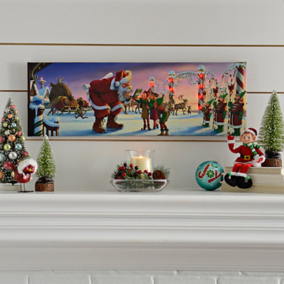 Santa's GPS LED Canvas Art Print