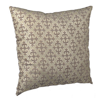 Taupe Cross Pattern Pillow