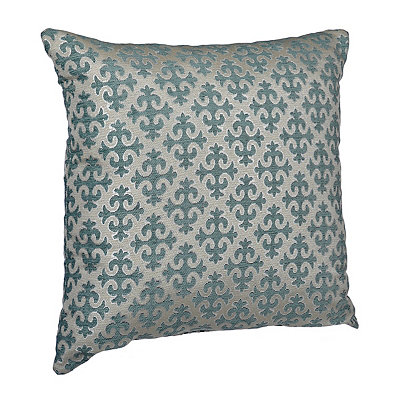 Aqua Cross Pattern Pillow