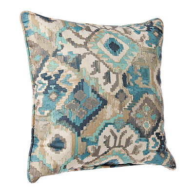 Blue Abstract Aztec Pillow