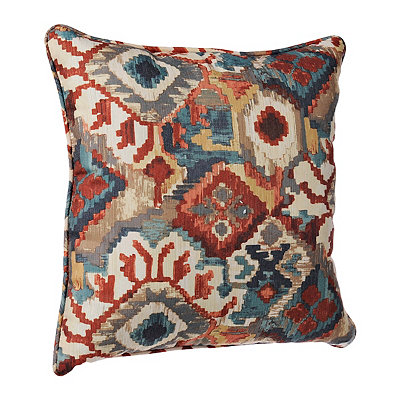 Warm Abstract Aztec Pillow