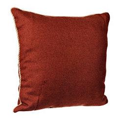Spice Burlap Cord Trim Pillow