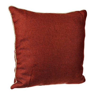 Spice Burlap Cord Trim Pillow