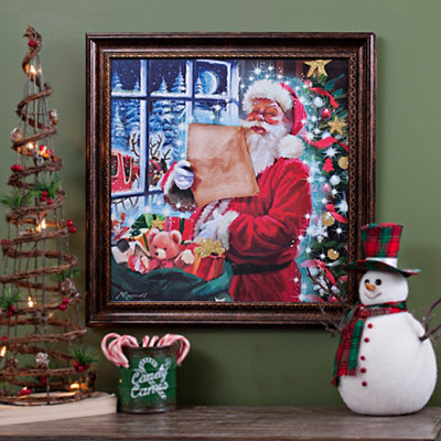 Santa's Nice List Framed Art Print