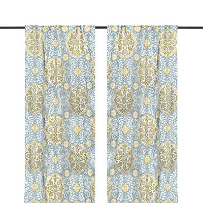 Aqua Cambria Curtain Panel Set, 84 in.