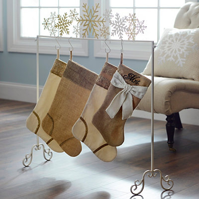 Golden Snowflake Stocking Holder