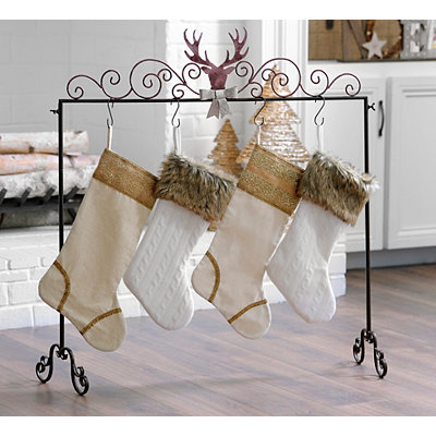 Deer Adorned Stocking Holder