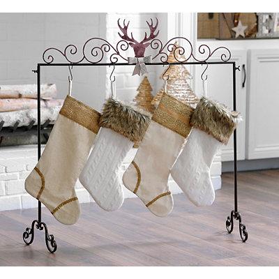 Deer Adorned Stocking Holder