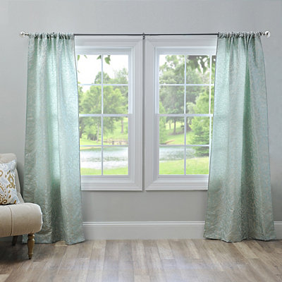 Aqua Marseille Curtain Panel Set, 84 in.