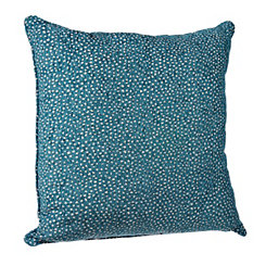 Teal Cutout Dots Pillow