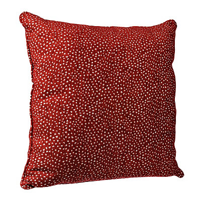 Red Cutout Dots Pillow