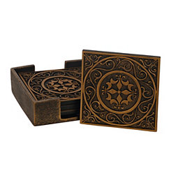 Edward Scroll Medallion Coaster Set