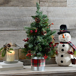 Scented Plaid Potted Tree