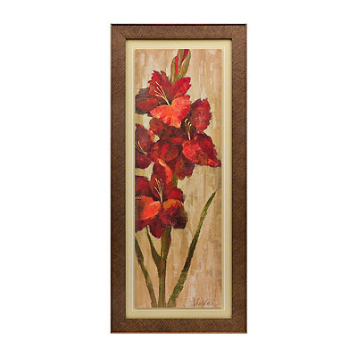 Vivid Red Floral I Framed Art Print