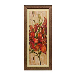 Vivid Red Floral II Framed Art Print