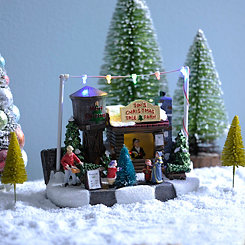 LED Christmas Tree Farm Statue