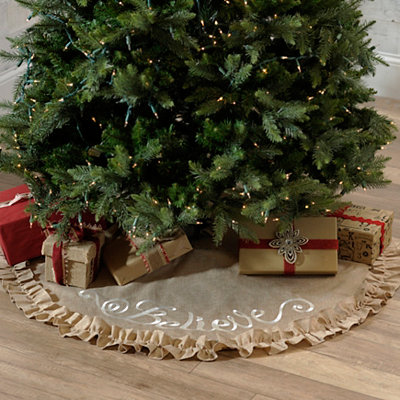 White Believe Tree Skirt