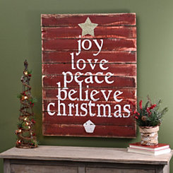 Christmas Tree Word Wood Plaque