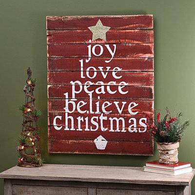 Christmas Tree Word Wood Plaque