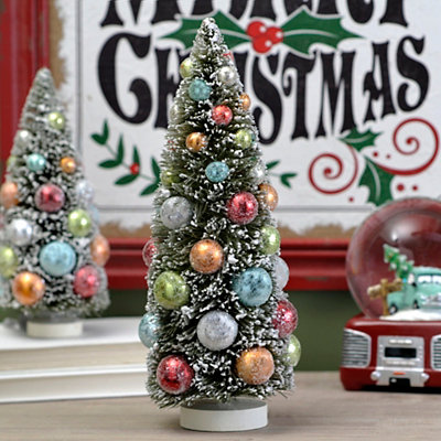 Retro Bottle Brush Tree, 12 in.