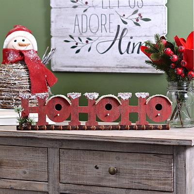 Ho Ho Ho Word Block Bird House