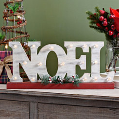 Noel LED Wood Word Block