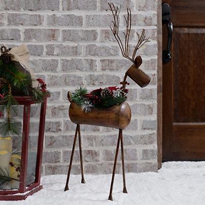 Bronze Reindeer Planter