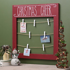 Christmas Cheer Multi-Clip Card Holder