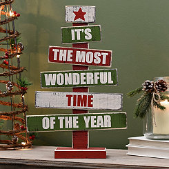 Most Wonderful Time Wood Word Tree