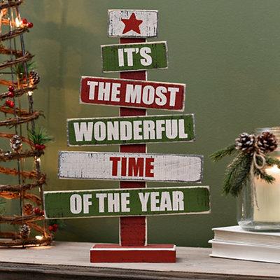 Most Wonderful Time Wood Word Tree
