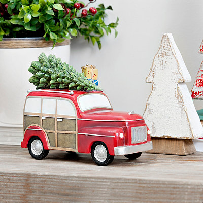 Pre-Lit Christmas Truck With Tree