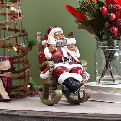 Rocking Santa Statue