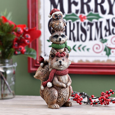 Christmas Forest Friends Statue