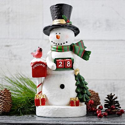Christmas Countdown Snowman Statue