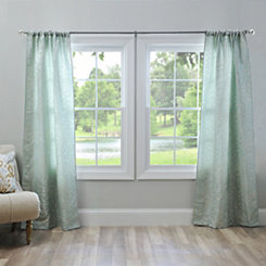 Aqua Marseille Curtain Panel Set, 96 in.