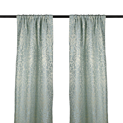 Aqua Marseille Curtain Panel Set, 108 in.