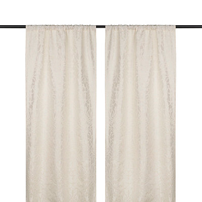 Ivory Marseille Curtain Panel Set, 108 in.