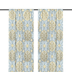 Aqua Cambria Curtain Panel Set, 96 in.