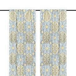 Aqua Cambria Curtain Panel Set, 108 in.