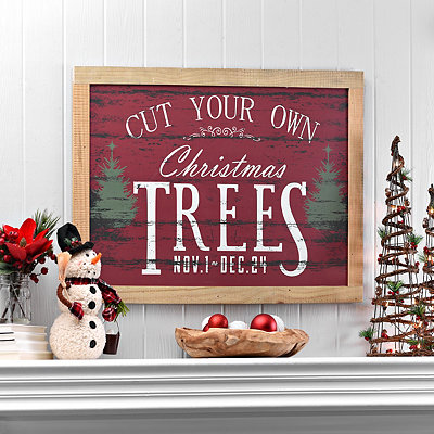 Cut Your Own Trees Wooden Plaque