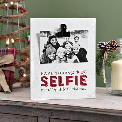Have Your Selfie a Merry Christmas Block Frame