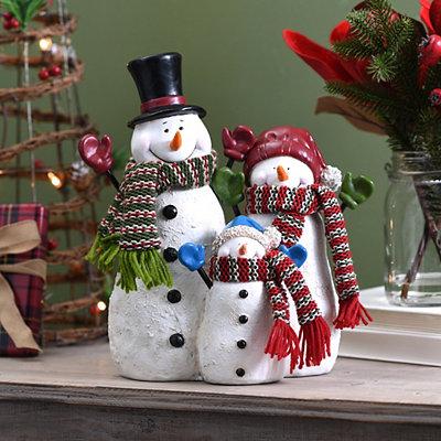 Snowman Family Statue