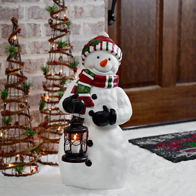 Snowman and Lantern Statue
