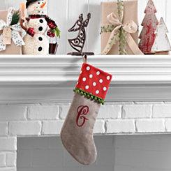 Polka Dot Monogram G Stocking