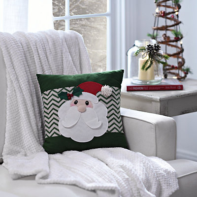 Santa Chevron Pillow