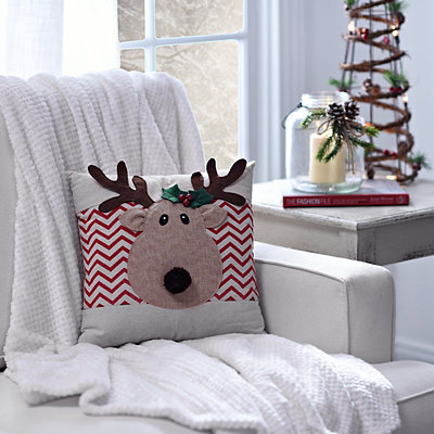 Reindeer Chevron Pillow