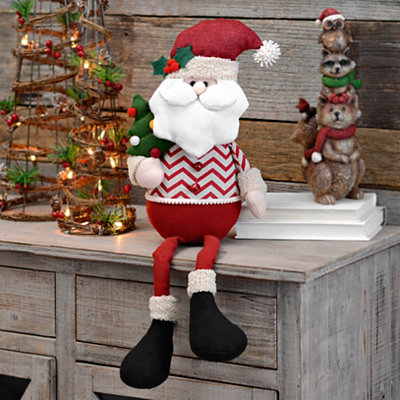 Chevron Santa Shelf Sitter