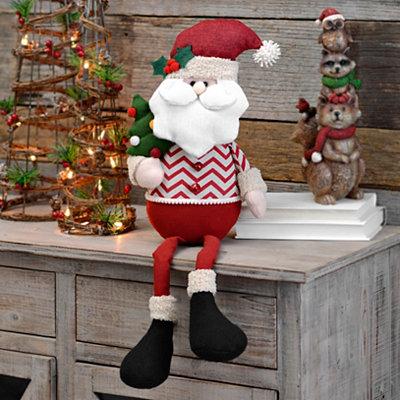 Chevron Santa Shelf Sitter