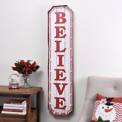 Pre-Lit Christmas Believe Marquee Plaque
